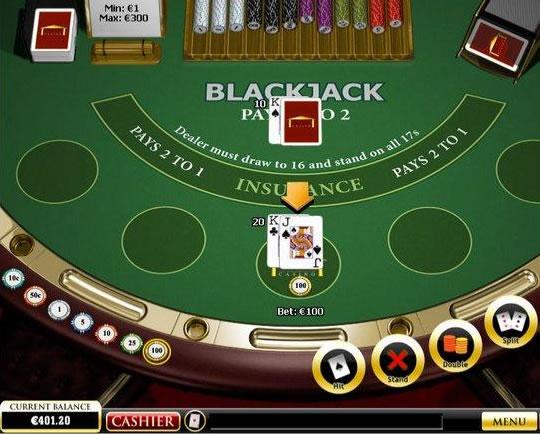 Online Blackjack Masası Görünümü