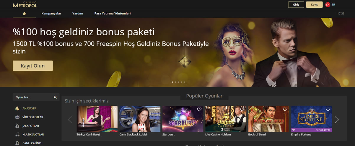 Casino Metropol Giriş Sayfası Görüntüsü
