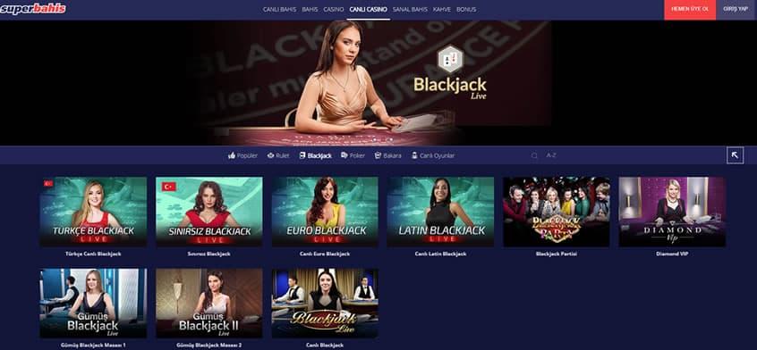 Süperbahis Blackjack Masaları Listesi