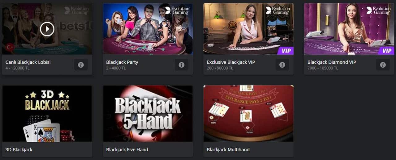 Bets10 Blackjack Oyun Çeşitleri Nelerdir