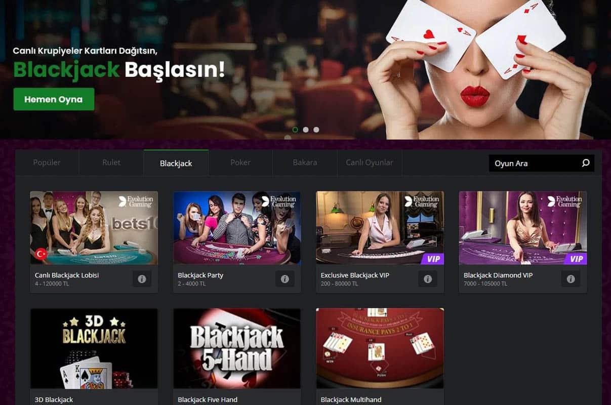 Bets10 Blackjack Sitesi Nasıldır